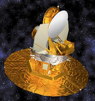 WMAP Spacecraft portrait with Background