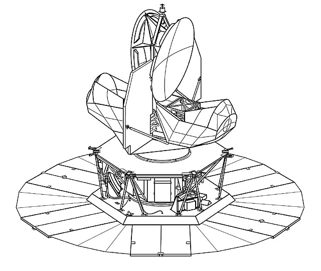 WMAP Spacecraft Line Drawing