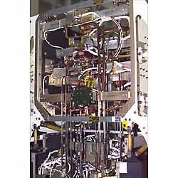 Photo of the FPA Box centeral section showing wave guides